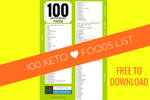 There are plenty of yummy low-carb foods to eat! Download our 100 Ketogenic Foods list for free and print it out to stick on your fridge for easy reference. Keto foods|low-carb food list|what can i eat on a ketogenic diet||banting foods|atkins diet food list|low carb high fat diet foods| #LowCarbDietFoodList #KetogenicFoodList #KetoFoodsList #WhatToEatOnKeto