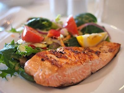 Ketogenic Diet Food List - Grilled Salmon and Salad