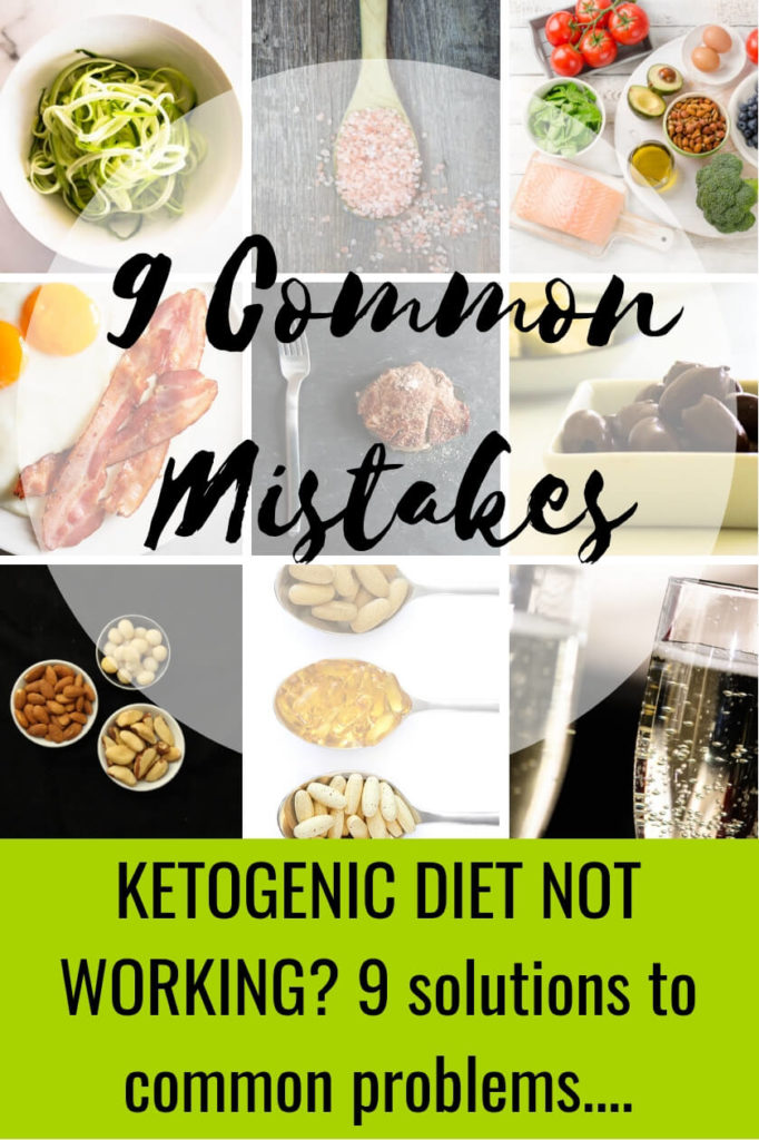 Imgages showing the 9 different problems people have on keto diets