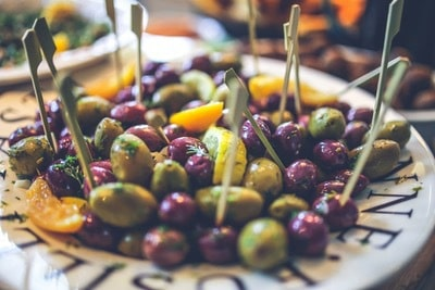 Plate of mixed olives