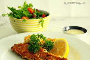 30 Minute Low Carb Herb and Parmesan Crusted Fish