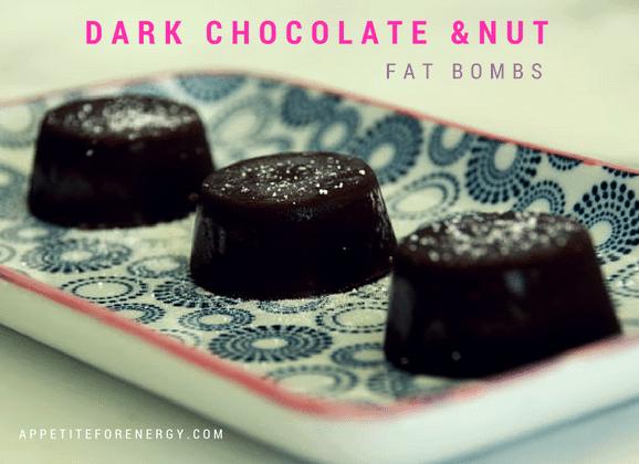 Dark chocolate & nut fat bombs