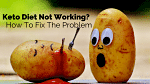2 Potatoes - one looking on shocked at other potato that has been stabbed with a fork and is bleeding ketchup