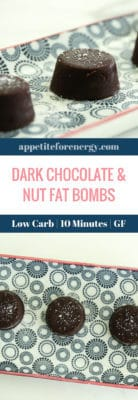 Dark Chocolate & Nut Fat Bombs on a plate