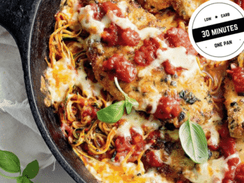 Chicken parmesan and zoodle skillet