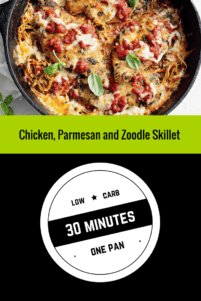 One Pan, Chicken, Parmesan And Zoodle Skillet