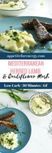 Mediterranean Herbed Lamb & Cauliflower Mash