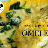 15 Minute Low-Carb Spinach & Parmesan Omelet
