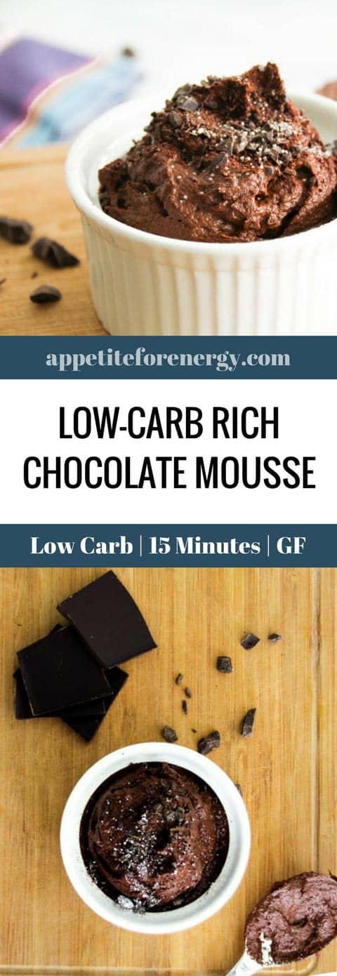 Don't feel deprived on a low carb or keto diet ever again! Try our decadent Low-Carb Avocado Chocolate Mousse recipe- ready in 15 Minutes...Ideal for ketogenic, gluten-free and dairy-free diets. #ketochocolatemousse #lowcarbchocolatemousse #chocolatemousse