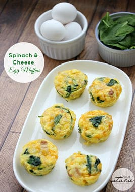 Spinach & Cheese Egg Muffins 30 Minute Low-Carb Breakfast recipes