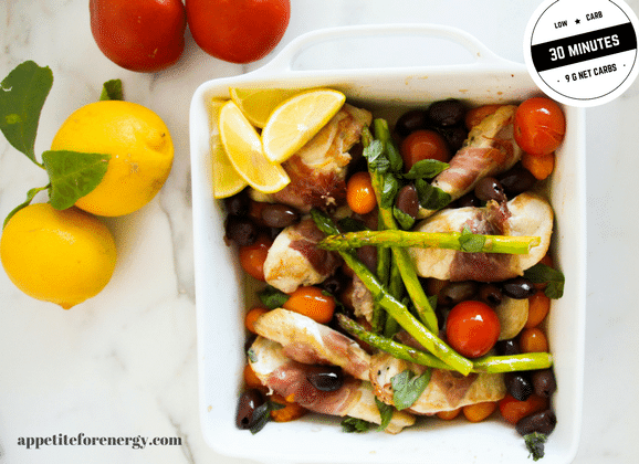 This Summer Mediterranean classic is an easy low-carb mid-week meal. It delivers maximum flavor and taste in 30 minutes with only 9g of net carbs per serve. Dairy-free, gluten-free and ideal for ketogenic diets, low-carb diets, Atkins and Banting.