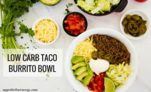 low carb mexican bowl