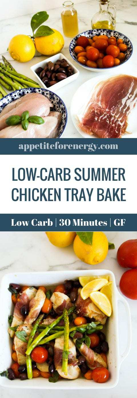 This Summer Mediterranean chicken tray bake recipe is an easy low-carb mid-week meal. It delivers maximum keto flavor and taste in 30 minutes with only 8g of net carbs per serve. Dairy-free, gluten-free. FOLLOW us for more 30 Minute Recipes. PIN & CLICK through to get the recipe! #ketochickentraybake #traybake #30minutemeal