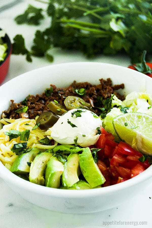 Low-Carb Taco Burrito Bowl