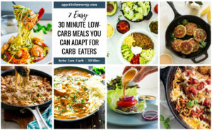 Images of the 7 recipes in a grid