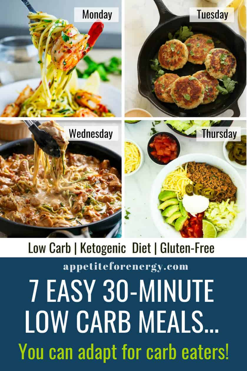 7 Day 30 Minute Keto Meal Plan You Can Adapt For Carb Eaters