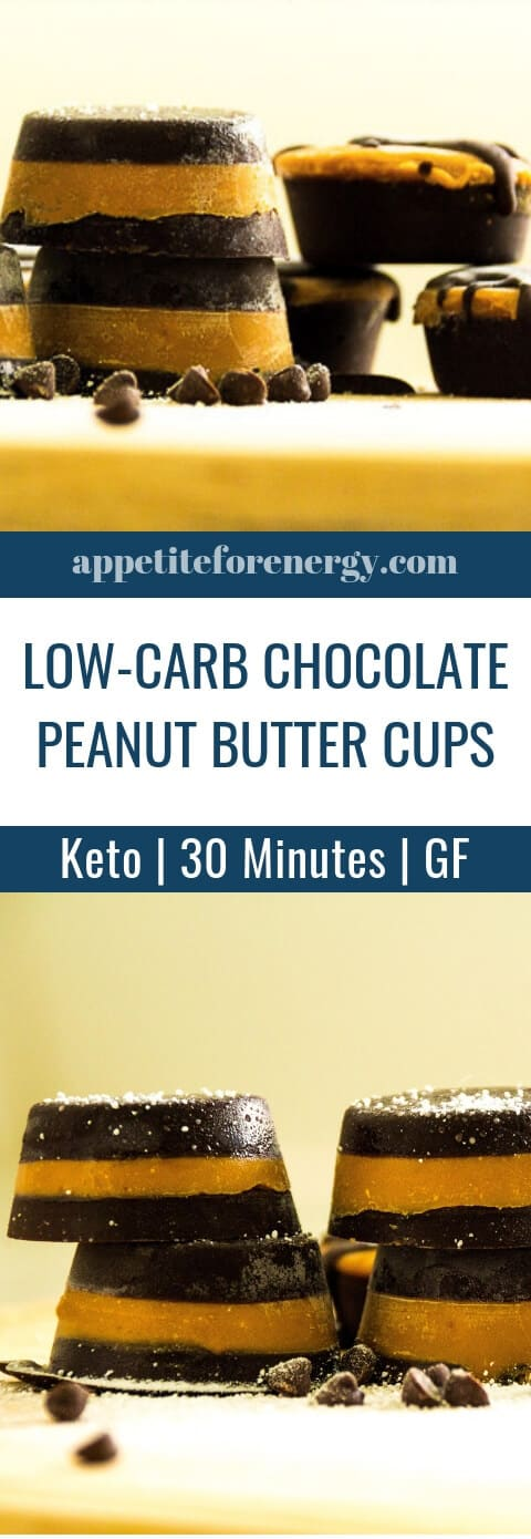 If you have a sweet tooth, you will love these Low-Carb Chocolate Peanut Butter Cups by the Tasteaholics. Only 5g net carbs & 5 ingredients. These fat bombs are an ideal snack or dessert for ketogenic, keto and gluten-free diets. FOLLOW us for more 30 Minute Recipes. PIN & CLICK through to get the recipe! #fatbombs #lowcarbrecipes #ketorecipes