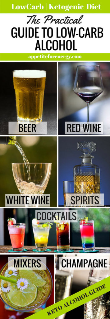 Beer, red wine, white wine, champagne, spirits, cocktails