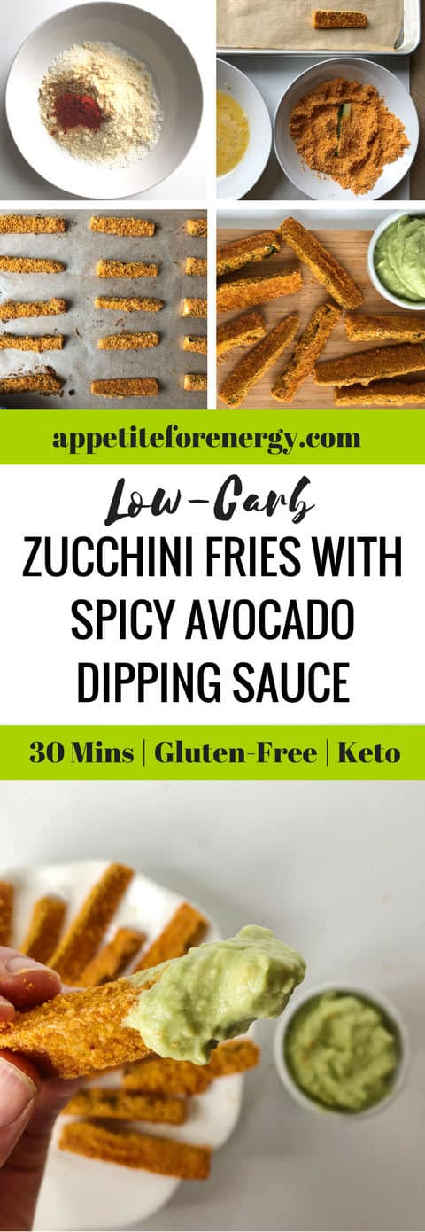 Sink your teeth into a hot, crumbed, tender zucchini fry dipped in Spicy Avocado Sauce and remind yourself how good the ketogenic diet is. Ready in 30 minutes! FOLLOW us for more 30 Minute Recipes. PIN & CLICK through to get the recipes! Low-carb diet zucchini fries |ketogenic diet snacks |keto diet vegetarian recipes |keto zucchini fries| gluten-free zucchini fries| #ZucchiniFryRecipes #KetoZucchiniFries #LowCarbSnackRecipes #KetogenicSnacks #ZucchiniFries