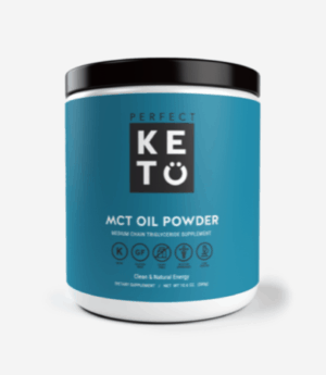 Container of Perfect Keto MCT Oil Powder