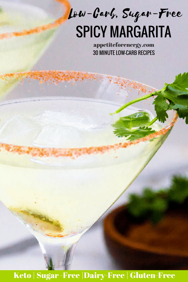 Low-Carb Spicy Margarita (keto, sugar-free)