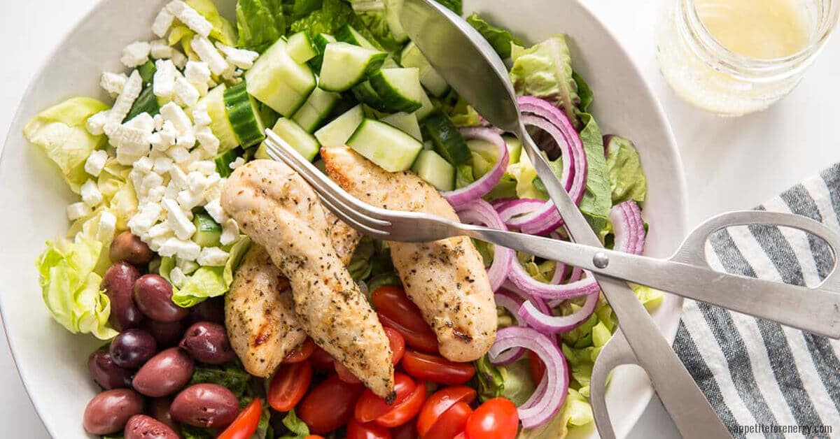 Simple Grilled Chicken Salad With Lemon Vinaigrette Appetite For