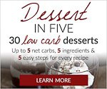 dessert-in-five eBook cover showing a chocolate pudding