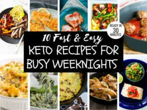 Collage showing the 10 different easy keto recipes
