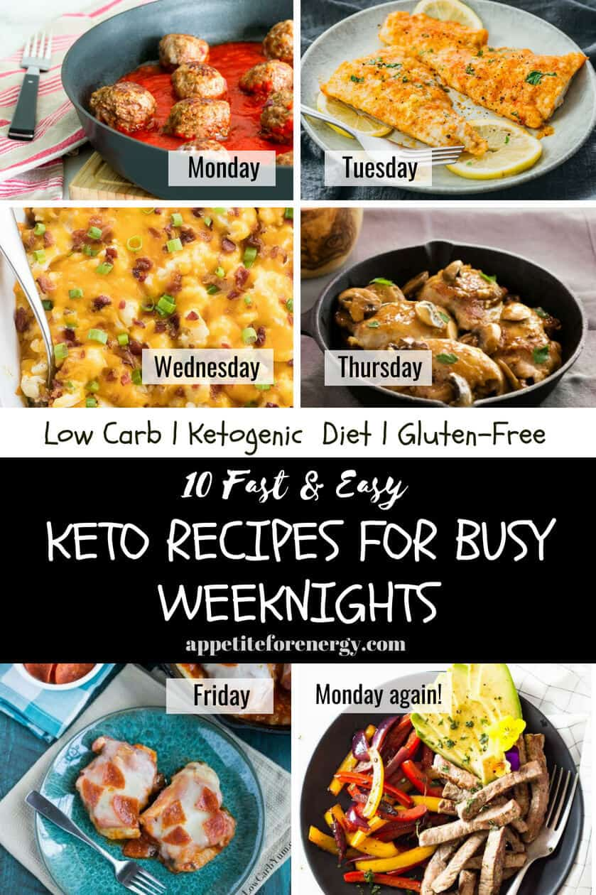 Embrace the hectic school routine with our pick of the FASTEST, family friendly, EASY keto recipes for busy weeknights (and weekends!) From one-pan low-carb dishes to the tastiest skillet recipes, you won't be caught off guard again! Recipes are suitable for ketogenic and gluten-free diets #easydinner #glutenfree #ketorecipes #backtoschool