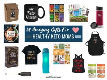 Images showing some of the 25 Amazing Gifts For Healthy Keto Moms