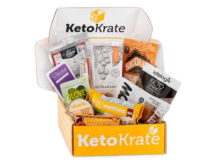 Ketokrate Box full of different keto snacks