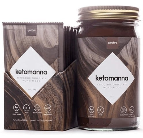 Ketomanna Fudge in the box and in a jar