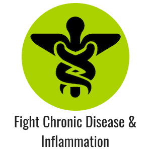 Green icon with medical symbol caduceus representing fighting disease