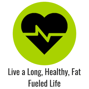 Green icon with heart and heart beat representing a healthy heart and long life