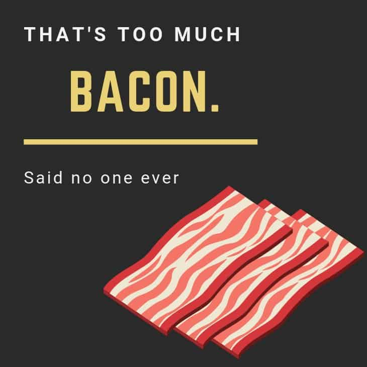 """THAT'S TOO MUCH BACON"" said no one ever with an drawing of bacon"