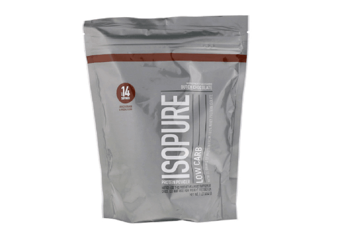 Small packet of Isopure low-carb proytein powder