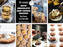 Collage showing the different chocolate chip cookie recipes