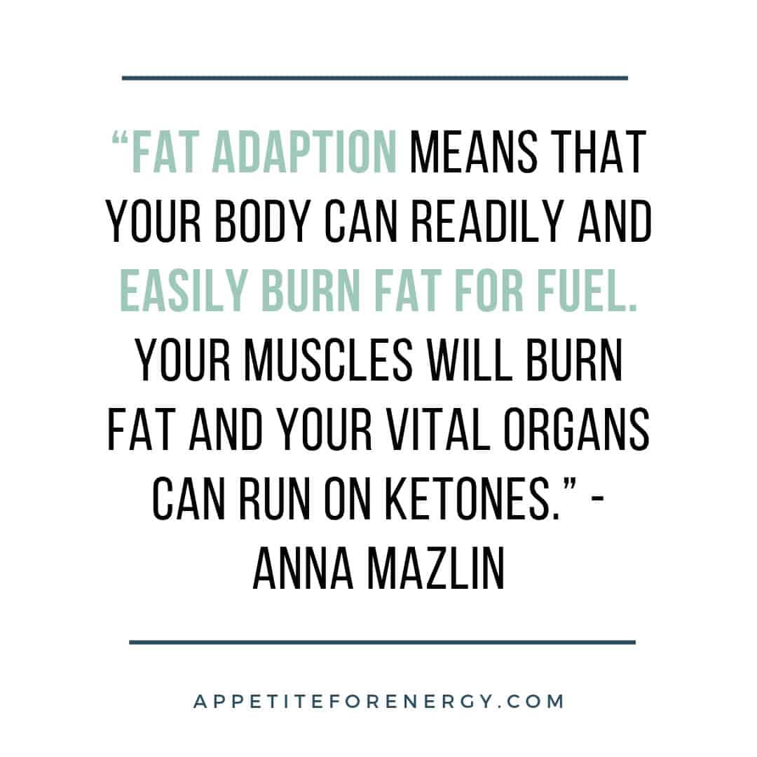 Quote about fat adaption