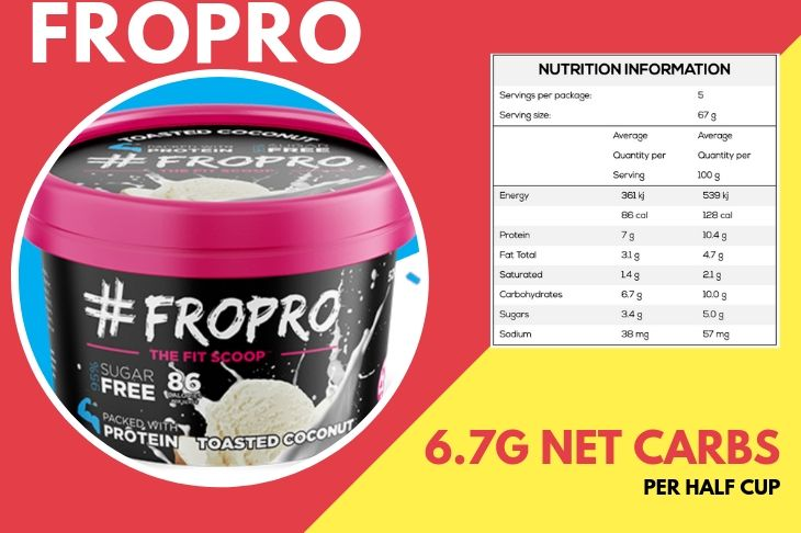 FROPRO Ice-cream pint and nutrition panel