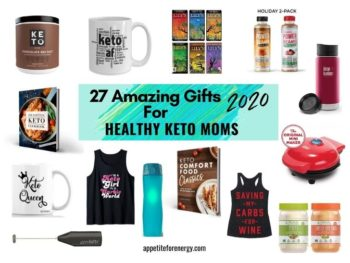 Images showing some of the 27 Amazing Gifts For Healthy Keto Moms