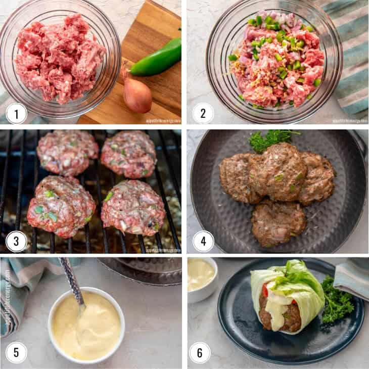 Steps to making Best Lettuce Wrapped Keto Pork Burger