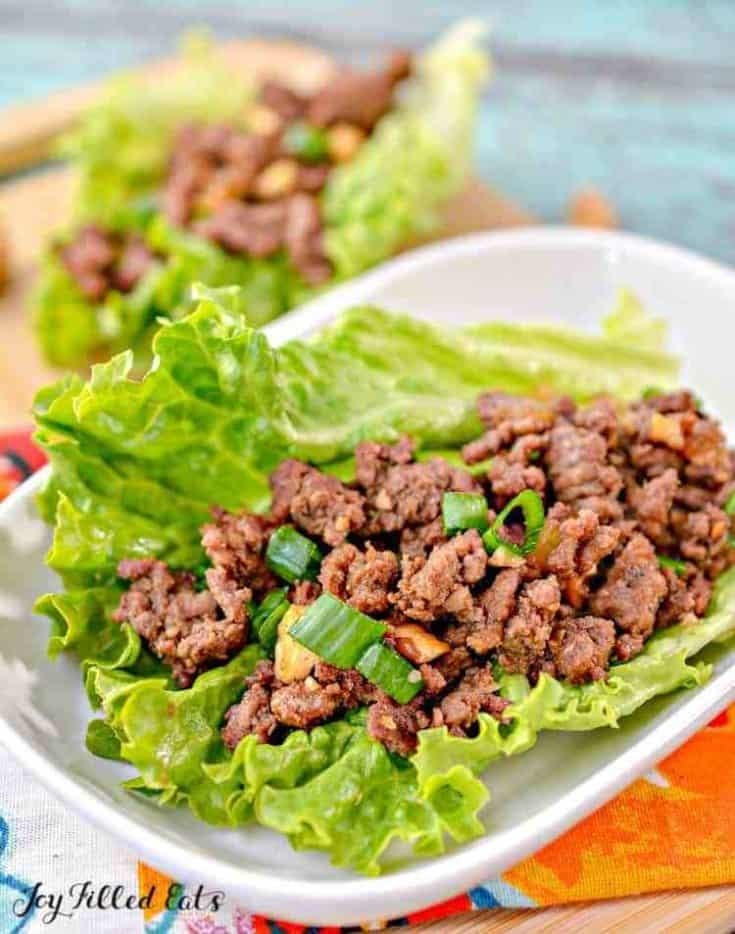 Asian Lettuce Wraps with Ground Beef