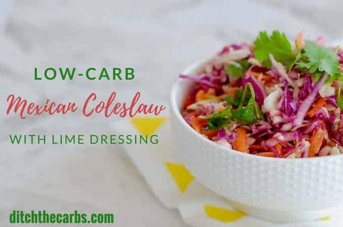 Low-Carb Mexican Coleslaw