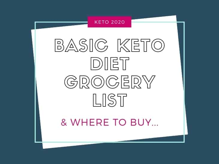 Basic Keto Diet Grocery List AND where to buy header only