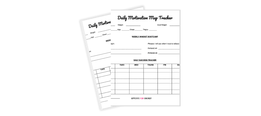 Graphic representation of Daily motivation map tracker