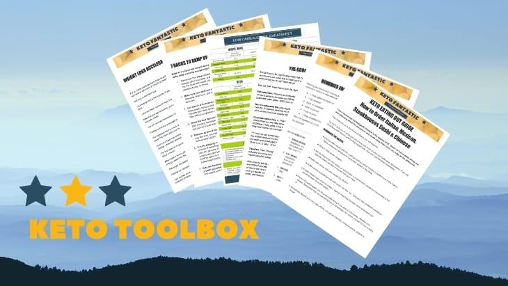 Keto Toolbox digital mock up of PDF downloads