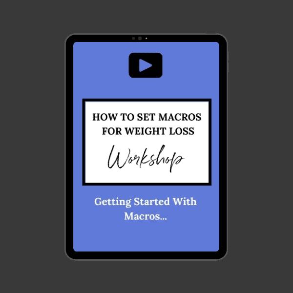 Ipad mockup of macro setting workshop